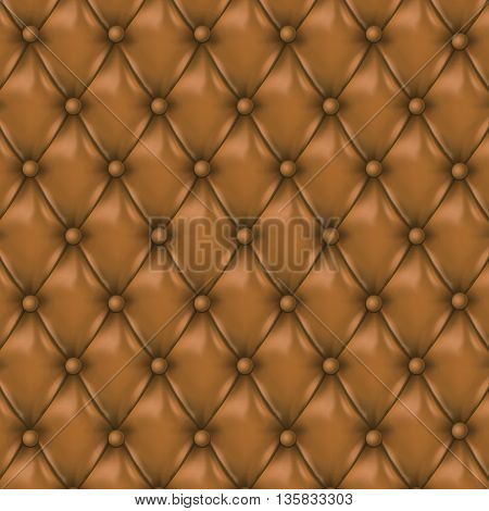 Leather background with buttons.