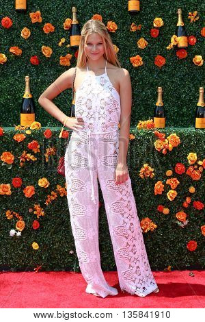 JERSEY CITY, NJ - MAY 30: Model Nadine Leopold attends the 8th Annual Veuve Clicquot Polo Classic at Liberty State Park on May 30, 2015 in Jersey  City, New Jersey.