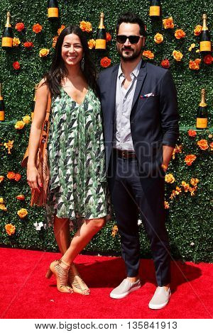 JERSEY CITY, NJ - MAY 30: Designer Rebecca Minkoff (L) and Gavin Bellour attend the 8th Annual Veuve Clicquot Polo Classic at Liberty State Park on May 30, 2015 in Jersey  City, New Jersey.