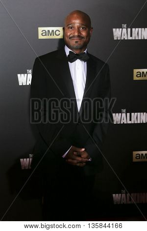 NEW YORK-OCT 9: Actor Seth Gilliam attends AMC's 'The Walking Dead' season six premiere at Madison Square Garden on October 9, 2015 in New York City.