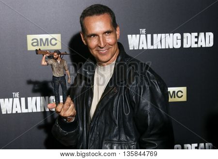 NEW YORK-OCT 9: Cartoonist Todd McFarlane attends AMC's 'The Walking Dead' season six premiere at Madison Square Garden on October 9, 2015 in New York City.