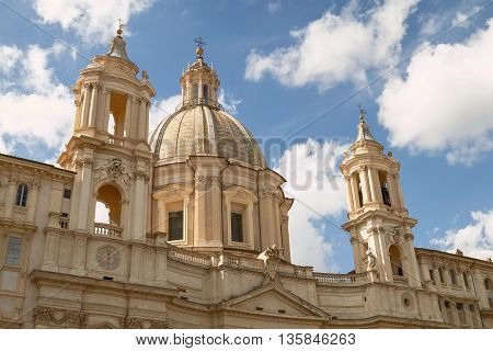 Sant'Agnese in Agone Church on the Piazza Navona in Rome Italy