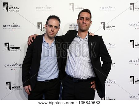 NEW YORK, NY - MAY 18: Wikiwand CEO Lior Grossman (L) and Ilan Lewin attend the 19th Annual Webby Awards at Cipriani Wall Street on May 18, 2015 in New York City.