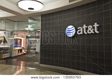 Indianapolis - Circa June 2016: AT&T Retail Store. AT&T Inc. is an American Telecommunications Corporation IX
