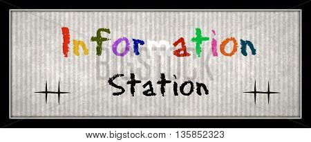 Information Station fun education sign banner school nerdy cosplay