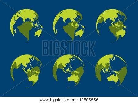 Hollow globe, 10 degree rotation
