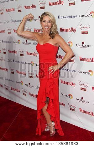 NEW YORK-FEB 10, 2015: Fitness instructor Denise Austin attends the 12th Annual Woman's Day Red Dress Awards at Jazz at Lincoln Center on February 10, 2015 in New York City.
