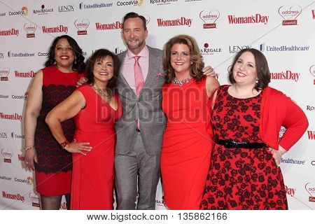 NEW YORK-FEB 10, 2015: TV personality Clinton Kelly (C) attends the 12th Annual Woman's Day Red Dress Awards at Jazz at Lincoln Center on February 10, 2015 in New York City.