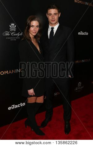 NEW YORK-MAR 30: Actor Max Irons (R) and guest attend the