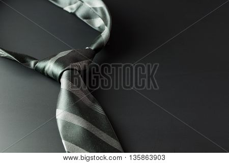 Necktie On Dark Background