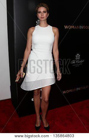 NEW YORK-MAR 30: Model Ivanka Trump attends the