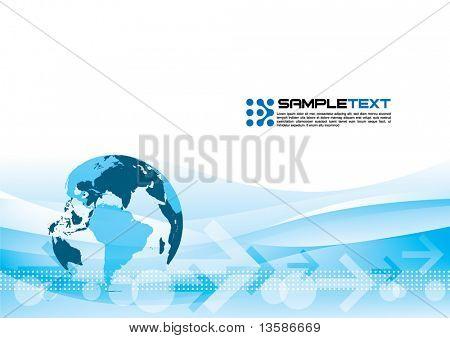 World trading background