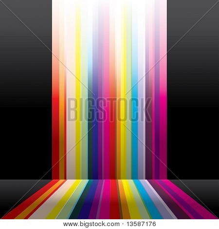 Abstract spectrum design poster