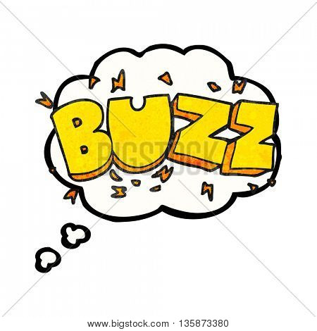freehand drawn thought bubble textured cartoon buzz symbol