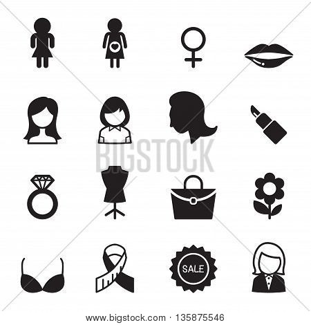 Woman icon set  Vector illustration Graphic design