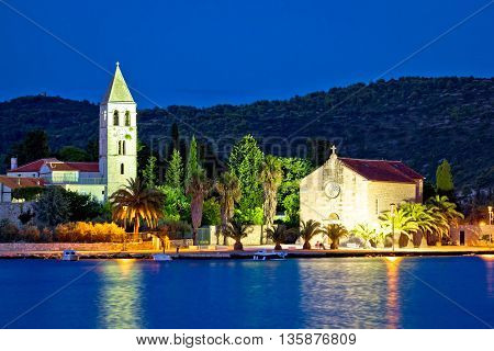 Island of Vis evening architecture vew Dalmatia Croatia