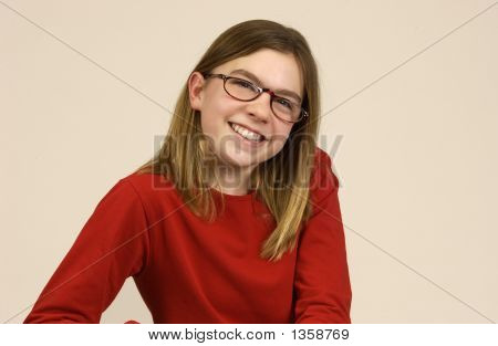 Girl Wearing Glasses 1