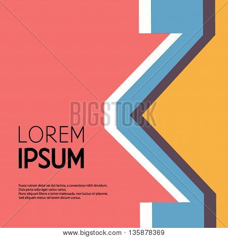 Vector stereotype illustration. Business icon. Abstract geometric sign