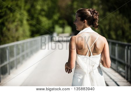 Traditional wedding / Bride in  white dress