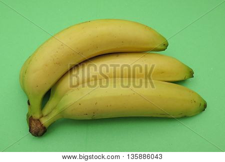 Yellow banana (Musa acuminata balbisiana paradisiaca) fruit vegan food poster