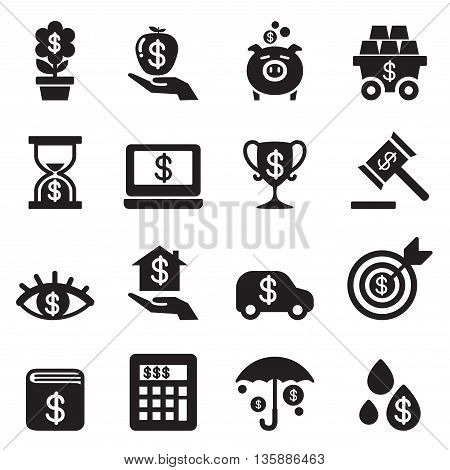 Investment Bonus Financial business icon set  vector illustration graphic design