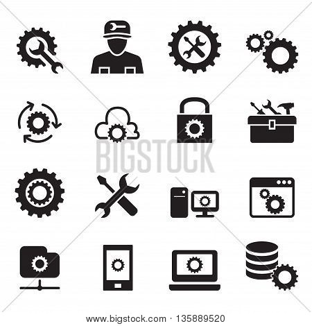 Setting configuration Set up Repair Tuning icon set