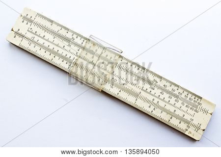 logarithmically line, closeup shot on white backgruond