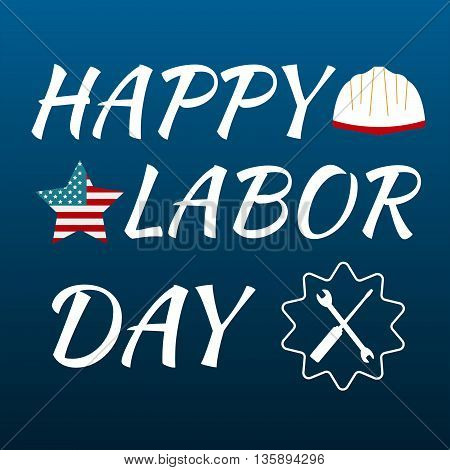 Happy Labor Day Card United States Of America. Celebrate Labor Day Usa Sale Banner. Vector Illustrat