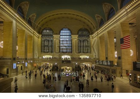 NEW YORK CITY - June 20 2016- The main concourse at Grand Central Terminal Manhattan New York.