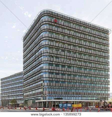 MALMO SWEDEN - AUGUST 17 2015: Sweden's newest university in the center of Malmo city