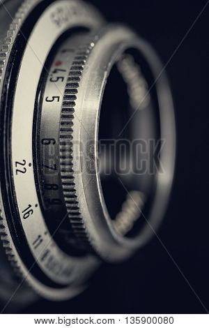 Retro lens abstract techno backgrounds for your design