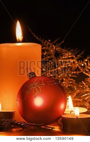 Christmas Candle Table Setting