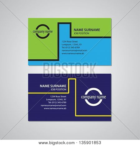 set of two business cards - Canada and USA standard 35 x 2 in or 889 x 508 mm