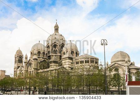 Roman Cathedral Cathedrale La Major in Marseille.