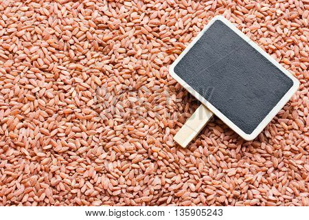 Red rice devzira background blank space for text