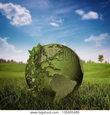 Green Planet abstract environmental backgrounds with copy space for your design