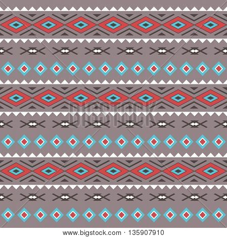 Tribal Boho Seamless Pattern . Ethnic Geometric Ornament. Boho Vector Pattern. Fabric, Wallpaper and Wrapping Texture.