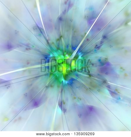 Magic Kaleidoscope. Explosion of supernova. Sacred geometry. Mysterious psychedelic relaxation pattern. Fractal abstract texture. Digital artwork graphic design astrology alchemy magic.