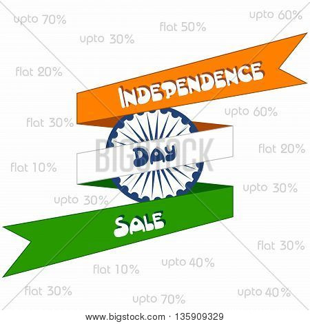Creative Independence Day sale greeting stock vector