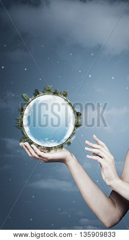 Save the planet. abstract natural backgrounds for your design