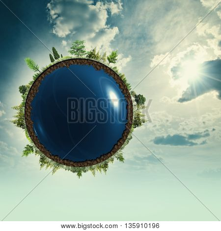 Earth at the skies abstract environmental backgrounds