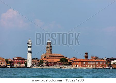 Faro Di Murano Lighthouse And Murano Island
