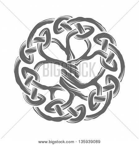 Illustration of celtic tree of life, vector illustration
