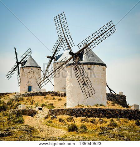 Don Quixote Windmills, Consuegra, Castile-La Mancha, Spain