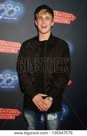 LOS ANGELES - JUN 23:  Jake Paul at the 100th DCOM Adventures In Babysitting LA Premiere Screening at the Directors Guild of America on June 23, 2016 in Los Angeles, CA