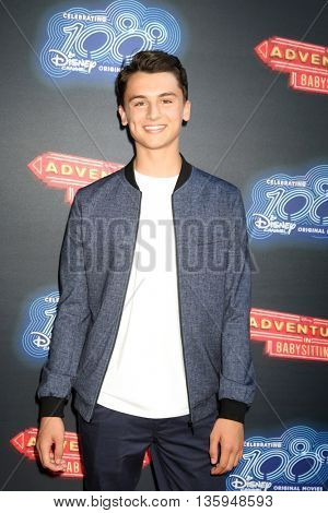LOS ANGELES - JUN 23:  Max Gecowets at the 100th DCOM Adventures In Babysitting LA Premiere Screening at the Directors Guild of America on June 23, 2016 in Los Angeles, CA