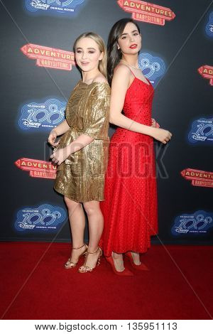 LOS ANGELES - JUN 23:  Sabrina Carpenter, Sofia Carson at the 100th DCOM Adventures In Babysitting LA Premiere Screening at the Directors Guild of America on June 23, 2016 in Los Angeles, CA