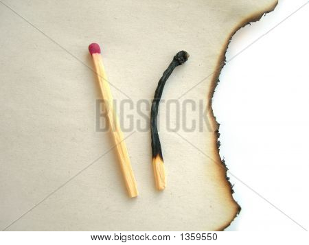 Two Matches, Burnt Paper