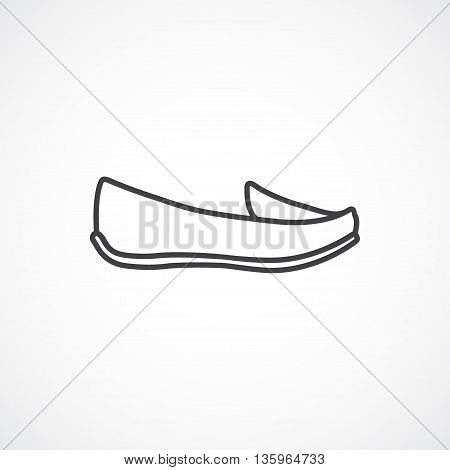 Women's shoes, moccasin, loafer Vector line icon