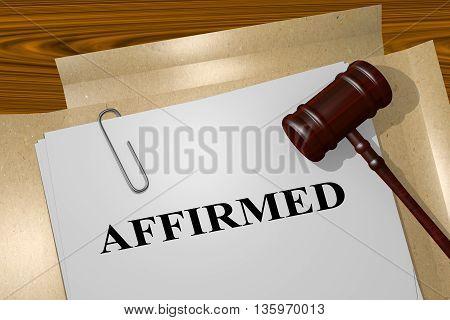 Affirmed Legal Concept